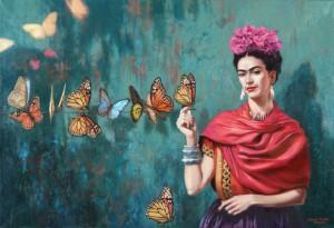 Joanna Sierko-Filipowska, Frida Kahlo 89x120 cm