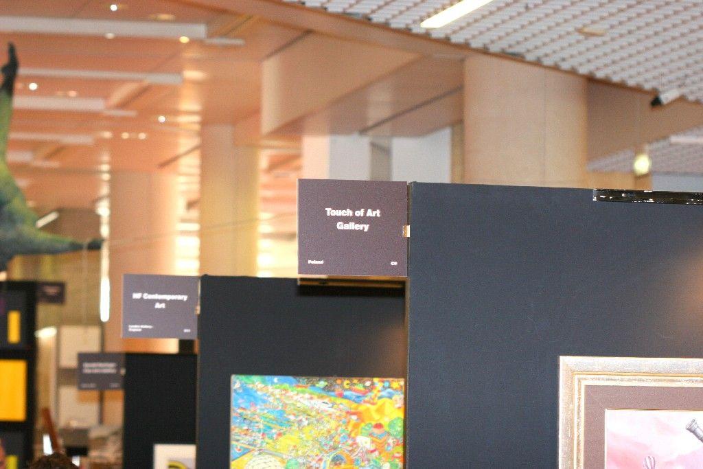 Stoisko galerii Touch of Art na targach sztuki Art Monaco 2014.