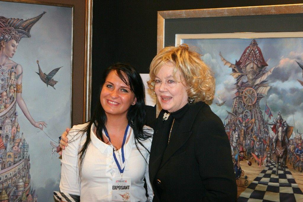 Agata Kolasińska (Art Manager) i Eduarda Crociani, matka JKW Księżniczki Camilli di Borbone delle Due Sicilie, Duchessa di Castro