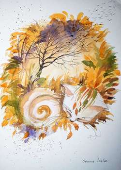 """Autumn cat"" - Adriana Laube"