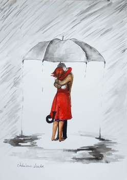 """In love the umbrella keeps itself"" - Adriana Laube"