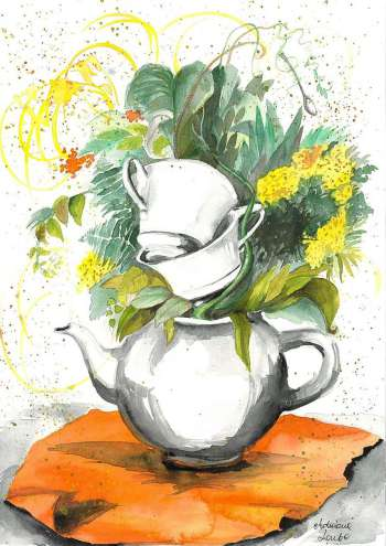Herbal tea for two - Adriana Laube