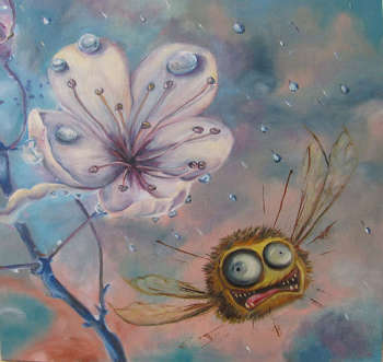 The bee, frightened by a thunder-storm - Aksana Vaitsekhovich