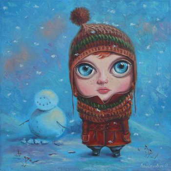 winter walk - Aksana Vaitsekhovich