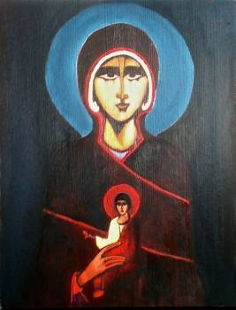 Mother of God with Child - Aleksandra Kulik