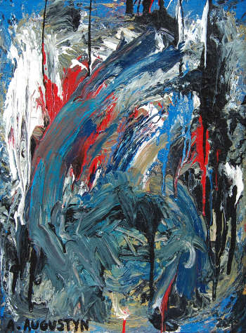 Abstraction bleue - Amelia Augustyn