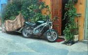 Crete-Chania-alley with two motorcycles - Andrzej A Sadowski