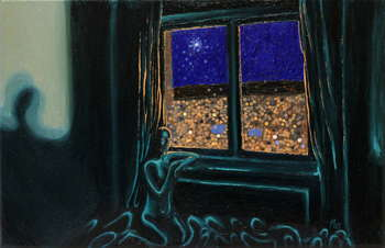 Circles behind the night window  - Angelika Mus Nowak