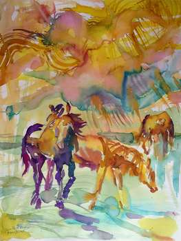 Horses in the sun - Anna Borcz