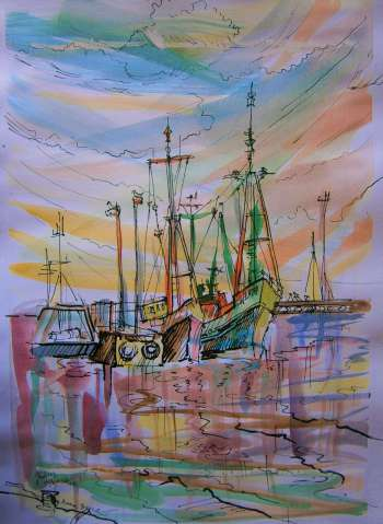 Fishing boats - Anna Borcz