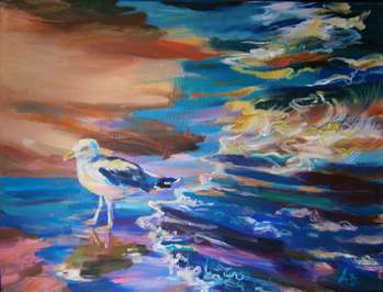 Seagull on the beach - Anna Borcz