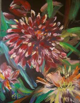 Evening dahlias - Anna Borcz