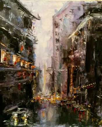 Rain in the city - Anna Bukhal