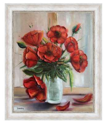 Poppies in the window - Anna Laurson