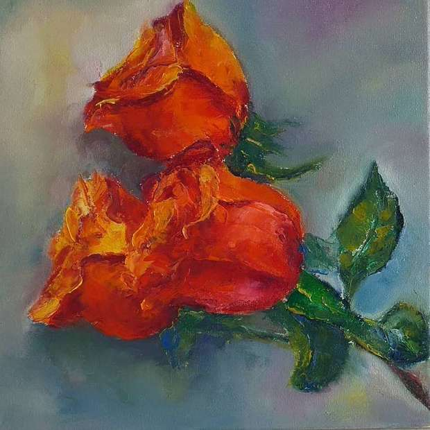 RED - ORANGE ROSES Anna  Michalczak