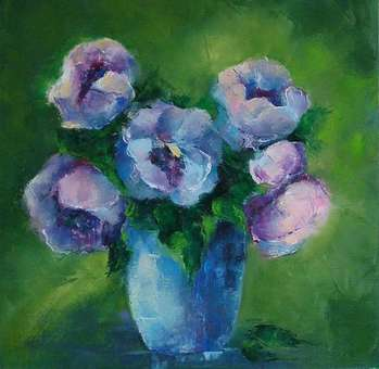 Blue flower bouquet. - Anna  Michalczak