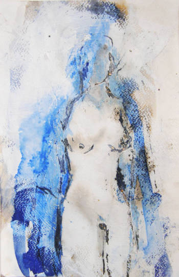 Blue bathrobe - Anna Nesteruk