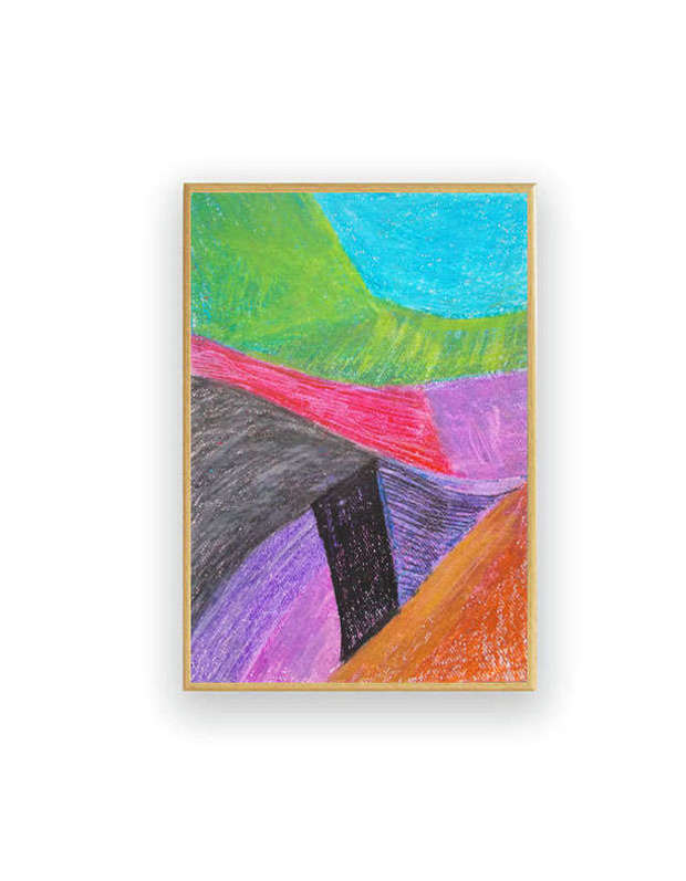abstraction - colorful drawing Anna Skowronek