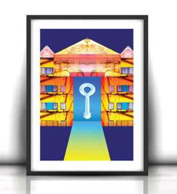 30x40 cm key mystery 1 - poster for decoration - Anna Skowronek