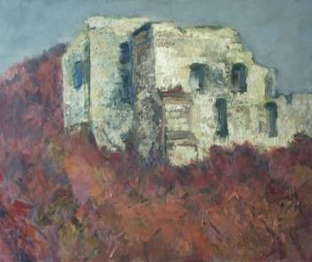 Ruins of the castle oil painting on canvas - Anna Skowronek