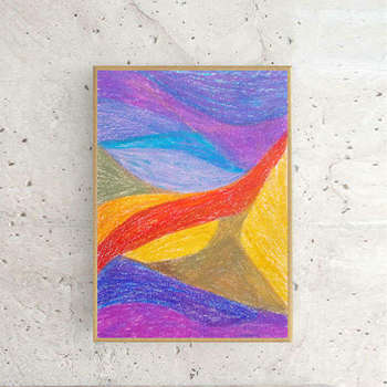 abstraction - dessin coloré - Anna Skowronek