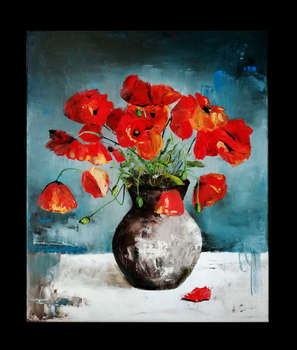 Poppies in a vase - Anna Słota