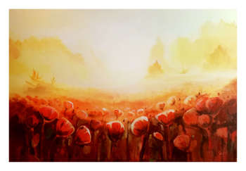 Poppy field in the morning - Anna Słota