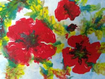 Poppies abstract - Antonina Radzięda