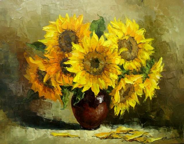 Sunflowers Armenian Art