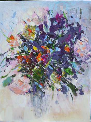 white-purple flowers - Barbara Kowalska