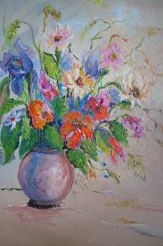 Flowers in a vase - Barbara Kowalska