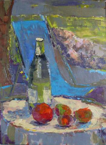 still life with fruit - Barbara Kowalska