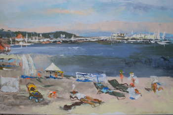 beach, view of the pier in Sopot - Barbara Kowalska