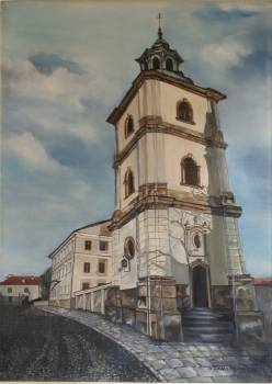 """Cathedral belfry"" - Barbara Zysk Leśniak"