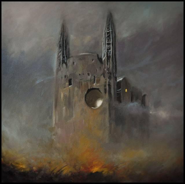 Katedra Pejzaż Fantasy Surrealizm Na Motywie Beksińskiego Damian