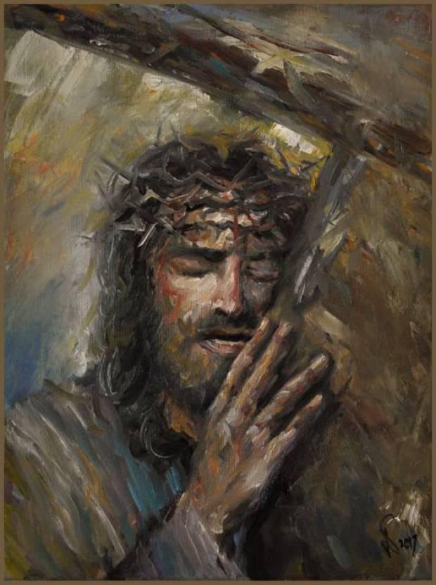 Oil Painting Jesus Christ Portrait 30x40cm Gierlach Damian