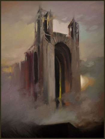 Pittura a olio Cathedral 599 GIERLACH surrealismo - Damian Gierlach