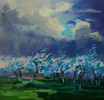 Spring in the orchard. Before storm. - Daniel Gromacki