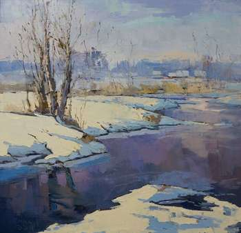 Winter on the river. Podlasie. - Daniel Gromacki