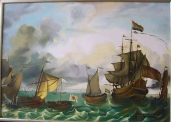 Dutch Fleet in the Indian Company. copy by L.Bakhuizen - Danuta Strzelbicka-Mazuś