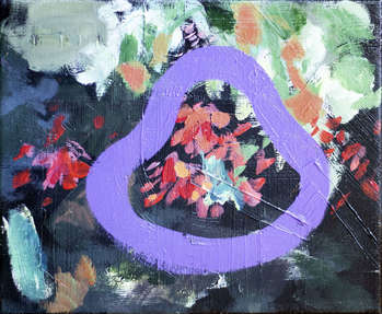 Abstraction with purple Abstract XXII abstract series - Dominika Fedko-Wójs