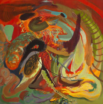 Dragon Abstract XV abstract series - Dominika Fedko-Wójs