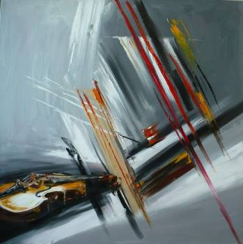 Abstraction avec violon - Dorota Łaz