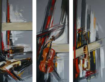 ABSTRACTION WITH VIOLINS - Dorota Łaz