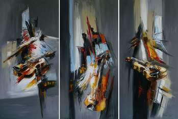 Abstractions with violins - triptych - Dorota Łaz