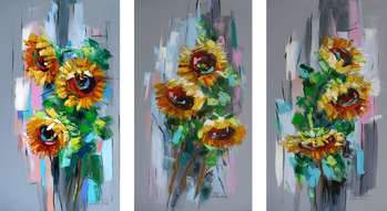 SUNFLOWERS - TRYPTIC - Dorota Łaz