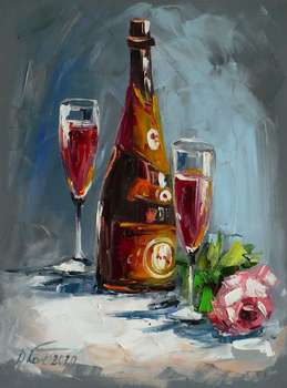 CHAMPAGNE AND ROSE - Dorota Łaz