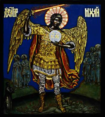 Archangel Michael overthrowing the devil - Drozdova Mariia