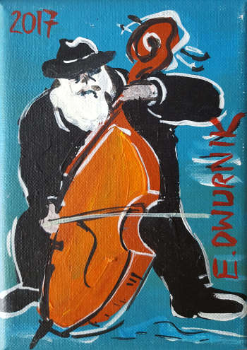Double bass player (sea) - Edward Dwurnik