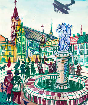 Krakow, 2012 - WATERCOLOR - Edward Dwurnik